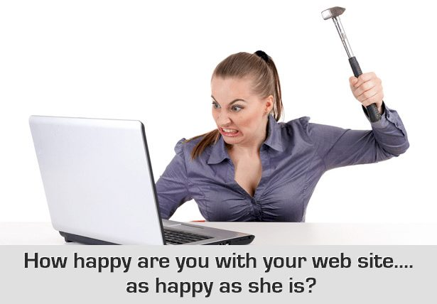Angry Lady not happy with web site