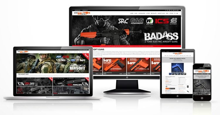 new justbbguns website launched