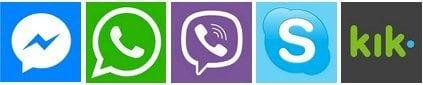 contact methods - whatsapp, viber...