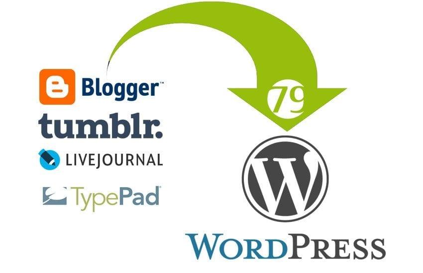 transfer blog to wordpress
