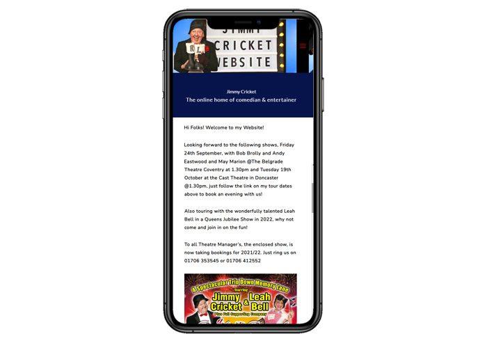 jimmy cricket website designer mobile
