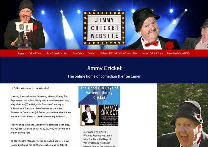 jimmy cricket website designer