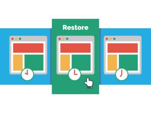 website hosting backup restore