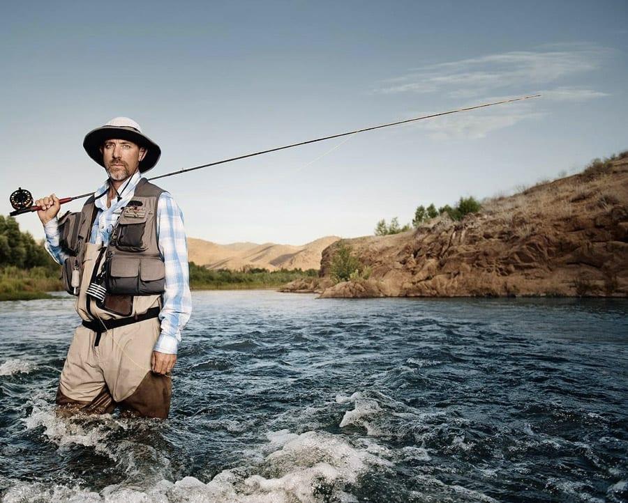 fishing website design man