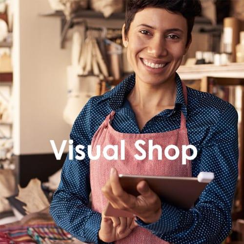 Visual Shop logo web designer