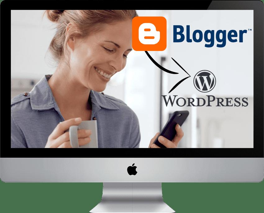 blogger website migration to wordpress
