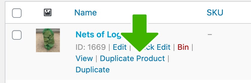 duplicate product button