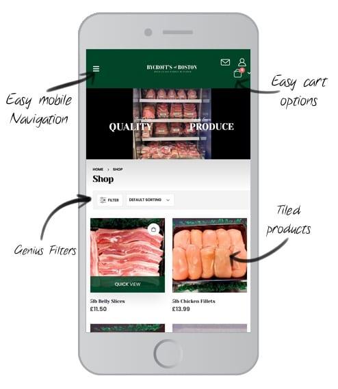 ecommerce mobile website