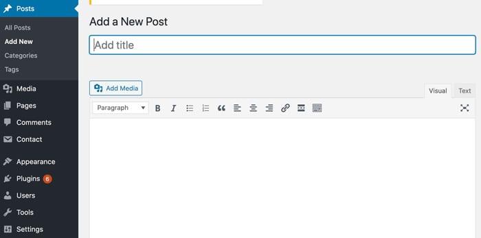 how to write a blog post menu