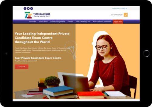 tutors and exams website designer