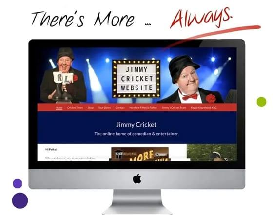 website design jimmy cricket rochdale