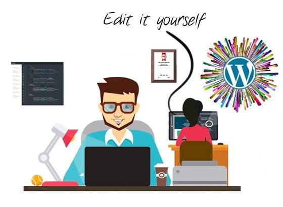 uk wordpress website designer editable content