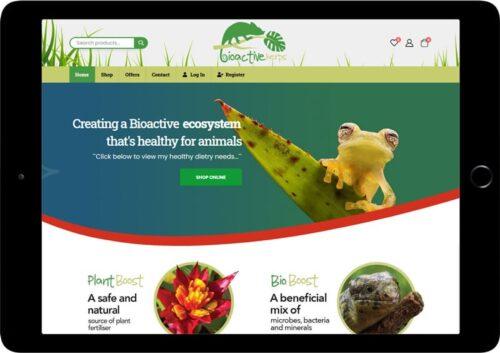 bioactive herps website design