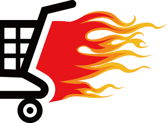 ecommerce website designer cart flames