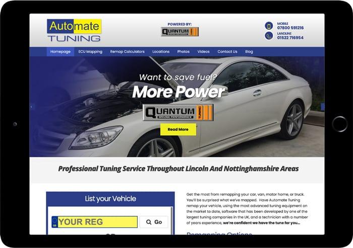 automate tuning website design
