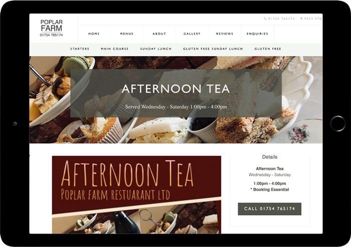 poplar farm restaurant screenshot