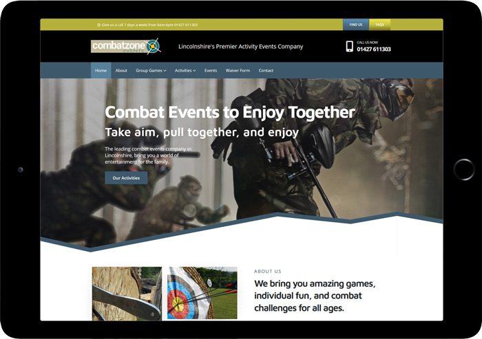 website combat zone events
