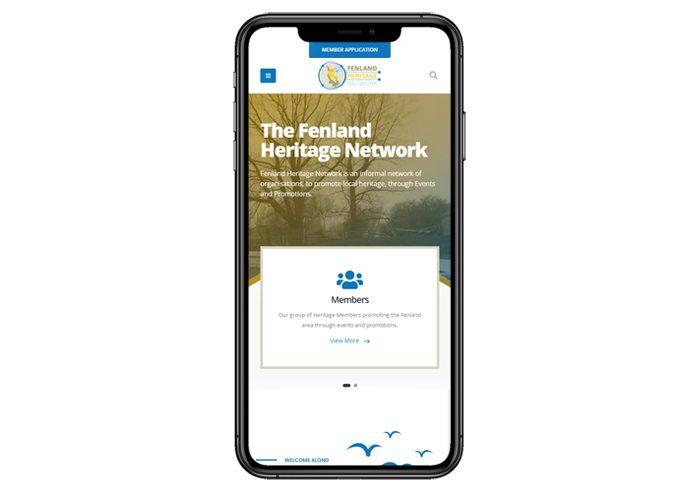 design fenland heritage network mobile