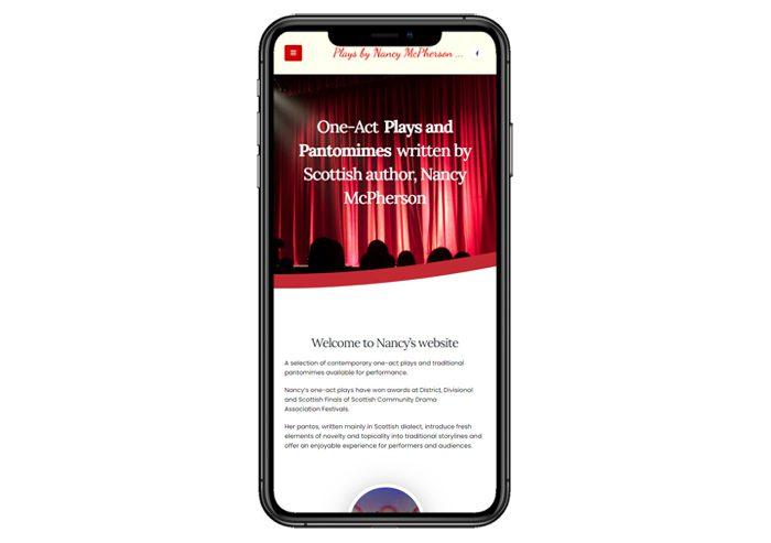 nancy mcpherson website screenshot responsive