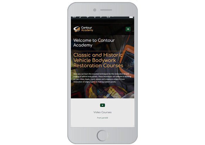 responsive website design contour academy